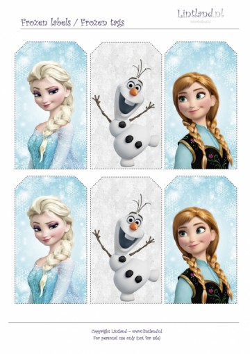 Frozen labels (GRATIS PRINTEN)