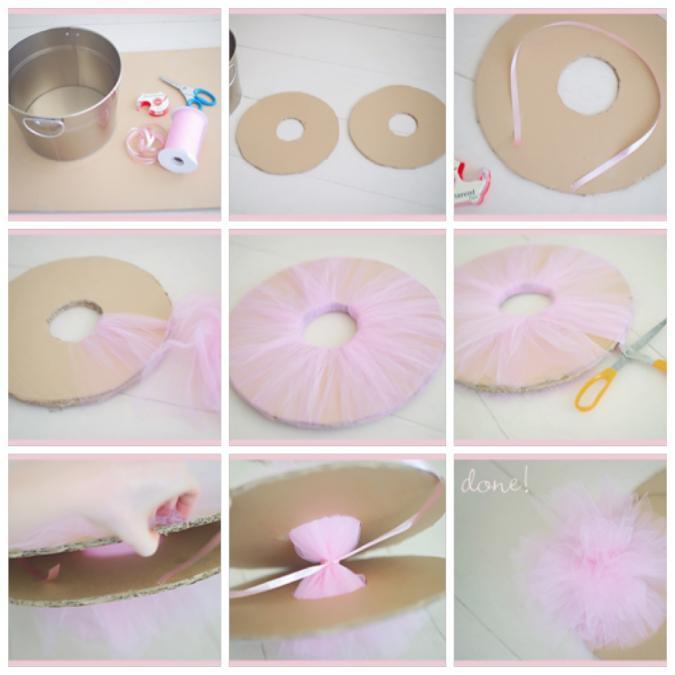 Tule lintland for Ballonnen versiering zelf maken